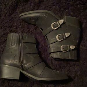 New: indigo rd western booties
